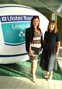 17 May 2018; Sharon Coventry, left, and her sister Sam, from Dublin, pictured at the Ulster Bank League Awards 2018 at the Aviva Stadium in Dublin. Irish rugby head coach Joe Schmidt was in attendance to present the awards to the best rugby players and coaches across all divisions of the Ulster Bank League.  Photo by Sam Barnes/Sportsfile