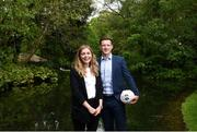 18 May 2018; Dublin ladies footballer Sinead Finnegan and Dublin footballer Paul Flynn pictured at The Jim Madden GPA Leadership Programme Launch at St Stephen's Green in Dublin. Photo by David Fitzgerald/Sportsfile