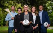 18 May 2018; In attendance, from left, Wexford hurler Matthew O'Hanlon, Leitrim ladies footballer Anna Conlon, Kildare ladies footballer Stacey Cannon, Dublin ladies footballer Sinead Finnegan and Dublin footballer Paul Flynn at The Jim Madden GPA Leadership Programme Launch at St Stephen's Green in Dublin. Photo by David Fitzgerald/Sportsfile
