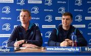 18 May 2018; Head coach Leo Cullen, left, and Luke McGrath during a Leinster Rugby press conference at the RDS Arena in Dublin. Photo by Piaras Ó Mídheach/Sportsfile