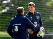 18 May 2018; Goalkeeper Conor O'Malley with Republic of Ireland manager Martin O'Neill during squad training at the FAI National Training Centre in Abbotstown, Dublin. Photo by Stephen McCarthy/Sportsfile