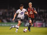 18 May 2018; Jamie McGrath of Dundalk in action against Dylan Watts of Bohemians during the SSE Airtricity League Premier Division match between Bohemians and Dundalk at Dalymount Park in Dublin. Photo by Ben McShane/Sportsfile