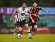 18 May 2018; Chris Shields of Dundalk in action against Dylan Watts of Bohemians during the SSE Airtricity League Premier Division match between Bohemians and Dundalk at Dalymount Park in Dublin. Photo by Ben McShane/Sportsfile