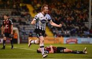 18 May 2018; Seán Hoare of Dundalk celebrates after scoring his side's second goal during the SSE Airtricity League Premier Division match between Bohemians and Dundalk at Dalymount Park in Dublin. Photo by Sam Barnes/Sportsfile