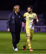 18 May 2018; St Patrick's Athletic manager Liam Buckley with goalkeeper Barry Murphy following the SSE Airtricity League Premier Division match between St Patrick's Athletic and Derry City at Richmond Park in Dublin. Photo by David Fitzgerald/Sportsfile