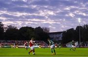 18 May 2018; Simon Madden of St Patrick's Athletic in action against Ben Doherty of Derry City during the SSE Airtricity League Premier Division match between St Patrick's Athletic and Derry City at Richmond Park in Dublin. Photo by David Fitzgerald/Sportsfile