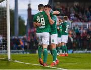 18 May 2018; Garry Buckley of Cork City celebrates after scoring his side's fourth goal with teammate Josh O'Hanlon during the SSE Airtricity League Premier Division match between Cork City and Bray Wanderers at Turner's Cross in Cork. Photo by Harry Murphy/Sportsfile