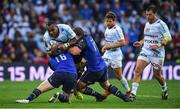 12 May 2018; Leone Nakawara of Racing 92 is tackled by James Tracy and Jack McGrath of Leinster during the European Rugby Champions Cup Final match between Leinster and Racing 92 at the San Mames Stadium in Bilbao, Spain. Photo by Brendan Moran/Sportsfile