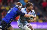 12 May 2018; Louis Dupichot of Racing 92 is tackled by James Tracy of Leinster during the European Rugby Champions Cup Final match between Leinster and Racing 92 at the San Mames Stadium in Bilbao, Spain. Photo by Brendan Moran/Sportsfile