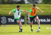 19 May 2018; Alan Browne, right, and Greg Cunningham during Republic of Ireland squad training at the FAI National Training Centre in Abbotstown, Dublin. Photo by Stephen McCarthy/Sportsfile