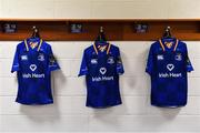 19 May 2018; Leinster jerseys in the dressing room ahead of the Guinness PRO14 semi-final match between Leinster and Munster at the RDS Arena in Dublin. Photo by Ramsey Cardy/Sportsfile