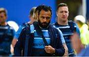 19 May 2018; Isa Nacewa of Leinster arrives ahead of the Guinness PRO14 semi-final match between Leinster and Munster at the RDS Arena in Dublin. Photo by Ramsey Cardy/Sportsfile
