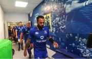 19 May 2018; Leinster captain Isa Nacewa leads his side out ahead of the Guinness PRO14 semi-final match between Leinster and Munster at the RDS Arena in Dublin. Photo by Ramsey Cardy/Sportsfile