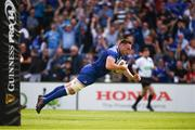 19 May 2018; Jack Conan of Leinster goes over to score his side's first try during the Guinness PRO14 semi-final match between Leinster and Munster at the RDS Arena in Dublin. Photo by Stephen McCarthy/Sportsfile