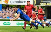 19 May 2018; Jack Conan of Leinster scores his side's first try during the Guinness PRO14 semi-final match between Leinster and Munster at the RDS Arena in Dublin. Photo by Ramsey Cardy/Sportsfile