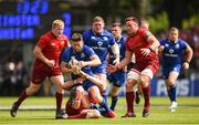 19 May 2018; Ross Byrne of Leinster is tackled by Robin Copeland of Munster during the Guinness PRO14 semi-final match between Leinster and Munster at the RDS Arena in Dublin. Photo by Stephen McCarthy/Sportsfile