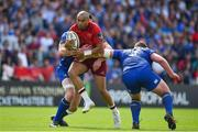 19 May 2018; Simon Zebo of Munster is tackled by James Ryan and Tadhg Furlong of Leinster during the Guinness PRO14 semi-final match between Leinster and Munster at the RDS Arena in Dublin. Photo by Brendan Moran/Sportsfile