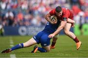 19 May 2018; Sammy Arnold of Munster is tackled by Rory O'Loughlin of Leinster during the Guinness PRO14 semi-final match between Leinster and Munster at the RDS Arena in Dublin. Photo by Stephen McCarthy/Sportsfile