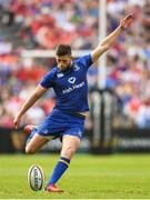 19 May 2018; Ross Byrne of Leinster kicks a penalty during the Guinness PRO14 semi-final match between Leinster and Munster at the RDS Arena in Dublin. Photo by Ramsey Cardy/Sportsfile