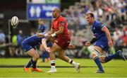 19 May 2018; Simon Zebo of Munster is tackled by Rory O'Loughlin of Leinster during the Guinness PRO14 semi-final match between Leinster and Munster at the RDS Arena in Dublin. Photo by Brendan Moran/Sportsfile