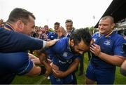 19 May 2018; Leinster captain Isa Nacewa is applauded off the pitch by teammates following his final home appearance for Leinster, after the Guinness PRO14 semi-final match between Leinster and Munster at the RDS Arena in Dublin. Photo by Ramsey Cardy/Sportsfile