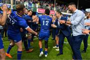 19 May 2018; Isa Nacewa of Leinster is applauded off by his team-mates after his final home game before retirement after the Guinness PRO14 semi-final match between Leinster and Munster at the RDS Arena in Dublin. Photo by Brendan Moran/Sportsfile