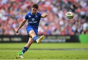 19 May 2018; Joey Carbery of Leinster kicks a penalty during the Guinness PRO14 semi-final match between Leinster and Munster at the RDS Arena in Dublin. Photo by Ramsey Cardy/Sportsfile