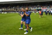 19 May 2018; Cian Healy, left, and Isa Nacewa of Leinster following the Guinness PRO14 semi-final match between Leinster and Munster at the RDS Arena in Dublin. Photo by Ramsey Cardy/Sportsfile
