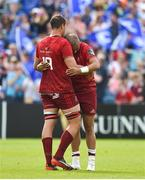 19 May 2018; Simon Zebo of Munster with team-mate Gerbrandt Grobler after the Guinness PRO14 semi-final match between Leinster and Munster at the RDS Arena in Dublin. Photo by Brendan Moran/Sportsfile