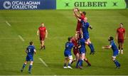 19 May 2018; Gerbrandt Grobler of Munster takes possession in a lineout ahead of Devin Toner of Leinster during the Guinness PRO14 semi-final match between Leinster and Munster at the RDS Arena in Dublin. Photo by Stephen McCarthy/Sportsfile