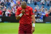 19 May 2018; Simon Zebo of Munster leaves the pitch after the Guinness PRO14 semi-final match between Leinster and Munster at the RDS Arena in Dublin. Photo by Brendan Moran/Sportsfile