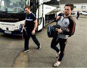 19 May 2018; Brendan Donaghy and Aidan Forker of Armagh arrive prior to the Ulster GAA Football Senior Championship Quarter-Final match between Fermanagh and Armagh at Brewster Park in Enniskillen, Fermanagh. Photo by Oliver McVeigh/Sportsfile
