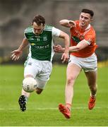 19 May 2018; Declan McCusker of Fermanagh in action against Ben Crealey of Armagh during the Ulster GAA Football Senior Championship Quarter-Final match between Fermanagh and Armagh at Brewster Park in Enniskillen, Fermanagh. Photo by Oliver McVeigh/Sportsfile