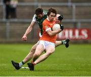 19 May 2018; Andrew Murnin of Armagh in action against Eoin Donnelly of Fermanagh during the Ulster GAA Football Senior Championship Quarter-Final match between Fermanagh and Armagh at Brewster Park in Enniskillen, Fermanagh. Photo by Oliver McVeigh/Sportsfile