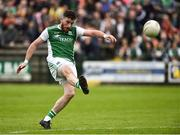 19 May 2018; Seamus Quigley of Fermanagh scores a point during the Ulster GAA Football Senior Championship Quarter-Final match between Fermanagh and Armagh at Brewster Park in Enniskillen, Fermanagh. Photo by Oliver McVeigh/Sportsfile