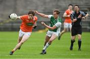 19 May 2018; Andrew Murnin of Armagh in action against Lee Cullen of Fermanagh during the Ulster GAA Football Senior Championship Quarter-Final match between Fermanagh and Armagh at Brewster Park in Enniskillen, Fermanagh. Photo by Oliver McVeigh/Sportsfile