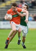 19 May 2018; Charlie Vernon of Armagh in action against Declan McCusker of Fermanagh during the Ulster GAA Football Senior Championship Quarter-Final match between Fermanagh and Armagh at Brewster Park in Enniskillen, Fermanagh. Photo by Oliver McVeigh/Sportsfile