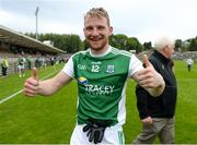 19 May 2018; Aidan Breen of Fermanagh celebrates after the Ulster GAA Football Senior Championship Quarter-Final match between Fermanagh and Armagh at Brewster Park in Enniskillen, Fermanagh. Photo by Oliver McVeigh/Sportsfile