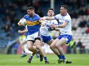 19 May 2018; Philip Austin of Tipperary in action against Shane Ryan, left, and Craig Guiry of Waterford during the Munster GAA Football Senior Championship Quarter-Final match between Tipperary and Waterford at Semple Stadium in Thurles, Co Tipperary. Photo by Daire Brennan/Sportsfile