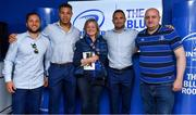 19 May 2018; Jamison Gibson-Park, Adam Byrne and Dave Kearney of Leinster with fans in the Blue Room prior to the Guinness PRO14 semi-final match between Leinster and Munster at the RDS Arena in Dublin. Photo by Brendan Moran/Sportsfile