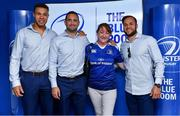 19 May 2018; Adam Byrne, Dave Kearney and Jamison Gibson-Park of Leinster with fans in the Blue Room prior to the Guinness PRO14 semi-final match between Leinster and Munster at the RDS Arena in Dublin. Photo by Brendan Moran/Sportsfile