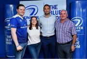 19 May 2018; Dave Kearney of Leinster with fans in the Blue Room prior to the Guinness PRO14 semi-final match between Leinster and Munster at the RDS Arena in Dublin. Photo by Brendan Moran/Sportsfile