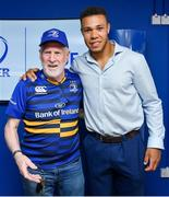 19 May 2018; Adam Byrne of Leinster with fans in the Blue Room prior to the Guinness PRO14 semi-final match between Leinster and Munster at the RDS Arena in Dublin. Photo by Brendan Moran/Sportsfile