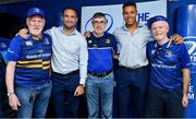 19 May 2018; Dave Kearney and Adam Byrne of Leinster with fans in the Blue Room prior to the Guinness PRO14 semi-final match between Leinster and Munster at the RDS Arena in Dublin. Photo by Brendan Moran/Sportsfile