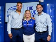 19 May 2018; Adam Byrne and Dave Kearney of Leinster with fans in the Blue Room prior to the Guinness PRO14 semi-final match between Leinster and Munster at the RDS Arena in Dublin. Photo by Brendan Moran/Sportsfile