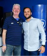 19 May 2018; Jamison Gibson-Park of Leinster with a fan in the Blue Room prior to the Guinness PRO14 semi-final match between Leinster and Munster at the RDS Arena in Dublin. Photo by Brendan Moran/Sportsfile