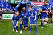 19 May 2018; Mascots with Leinster captain Isa Nacewa prior to the Guinness PRO14 Semi-Final match between Leinster and Munster at the RDS Arena in Dublin. Photo by Brendan Moran/Sportsfile