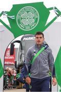 20 May 2018; John Egan of Republic of Ireland XI arrives prior to Scott Brown's testimonial match between Celtic and Republic of Ireland XI at Celtic Park in Glasgow, Scotland. Photo by Stephen McCarthy/Sportsfile