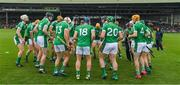 20 May 2018; The Limerick players warm up before the Munster GAA Hurling Senior Championship Round 1 match between Limerick and Tipperary at the Gaelic Grounds in Limerick. Photo by Ray McManus/Sportsfile