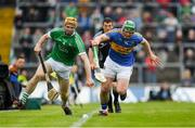 20 May 2018; Richie English of Limerick in action against Jason Forde of Tipperary during the Munster GAA Hurling Senior Championship Round 1 match between Limerick and Tipperary at the Gaelic Grounds in Limerick. Photo by Ray McManus/Sportsfile